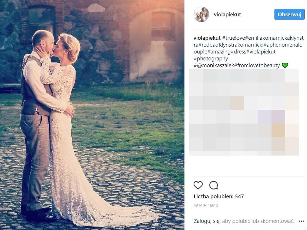Emilia Komarnicka i Redbad Klynstra- zdjęcia ze ślubu