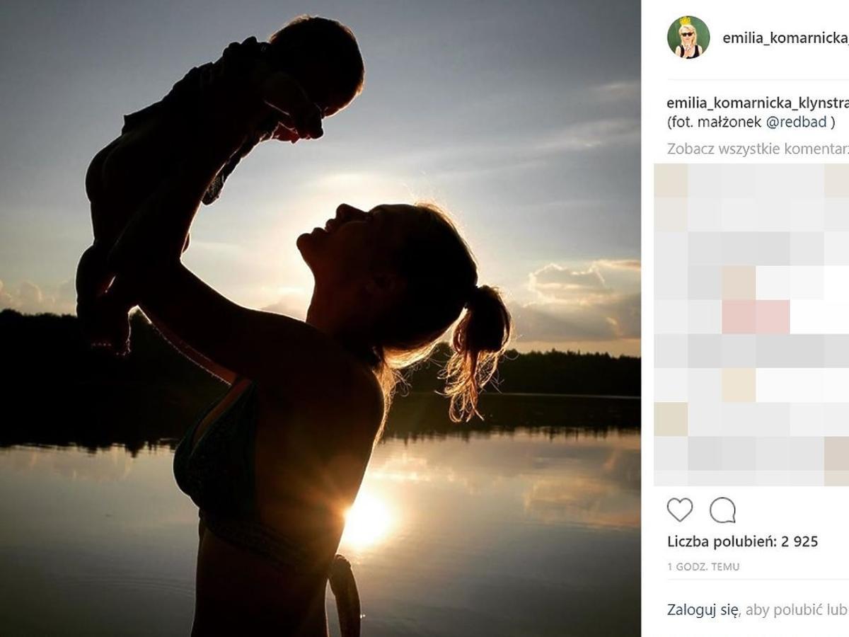 Emilia Komarnicka-Klynstra pokazała syna
