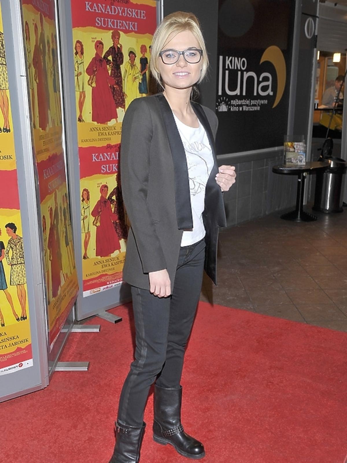 Emilia Komarnicka na premierze filmu