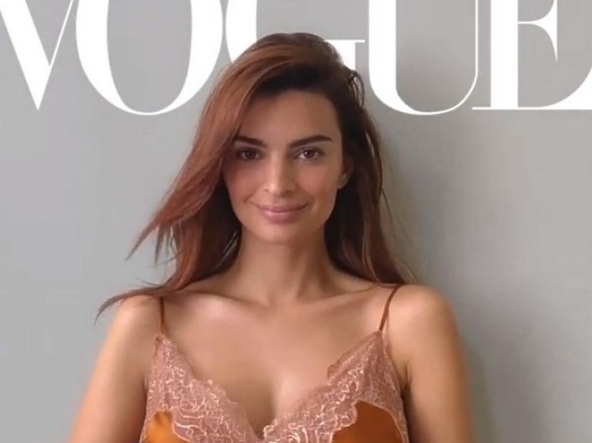 Emily Ratajkowski w ciąży na okładce Vogue