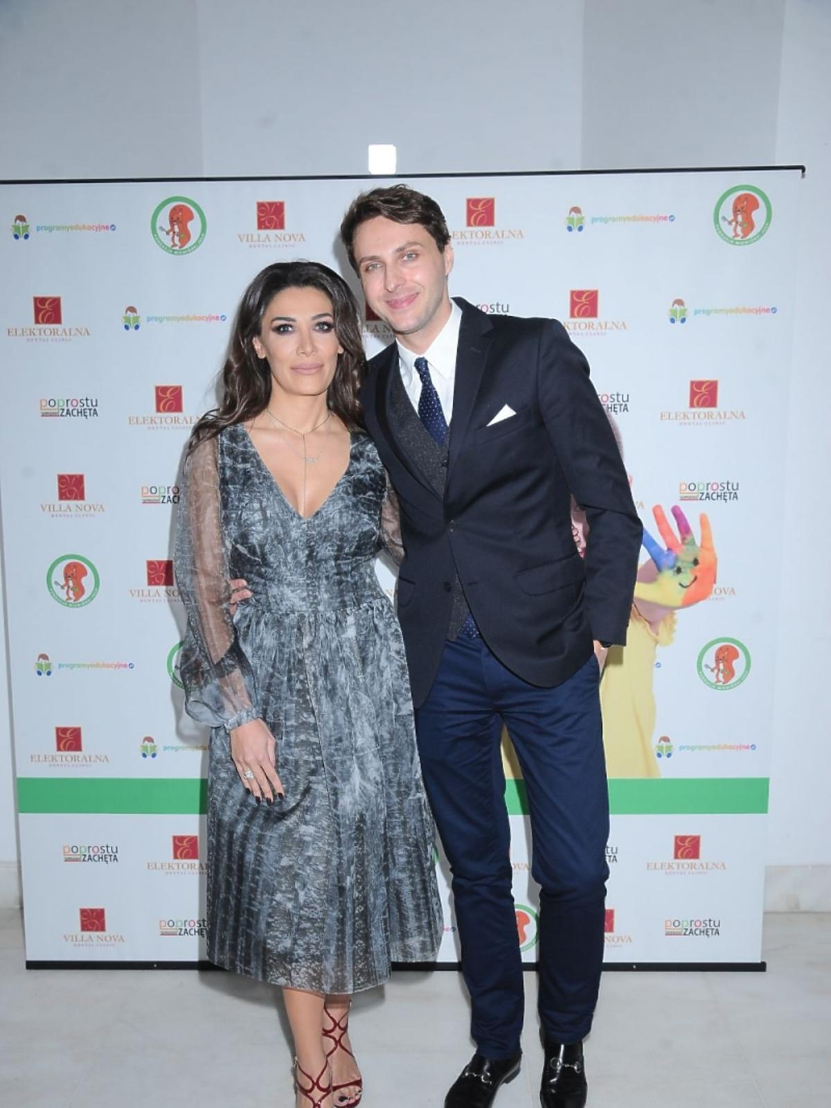Emma Kiworkowa i Marcin Cejrowski na urodzinach fundacji Wiewiórki Julii