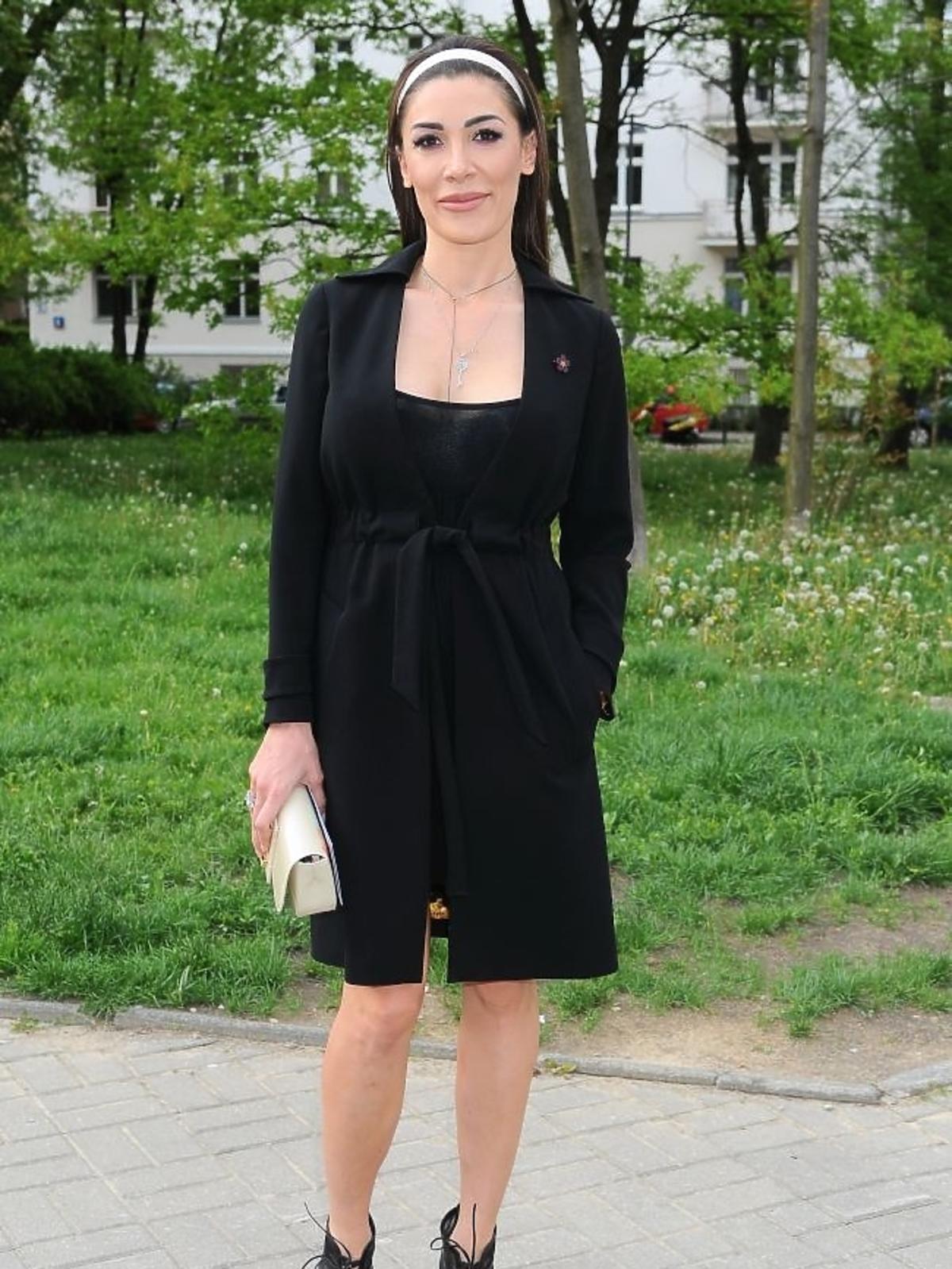 Emma Kiworkowa na premierze spektaklu Zwariowana terapia