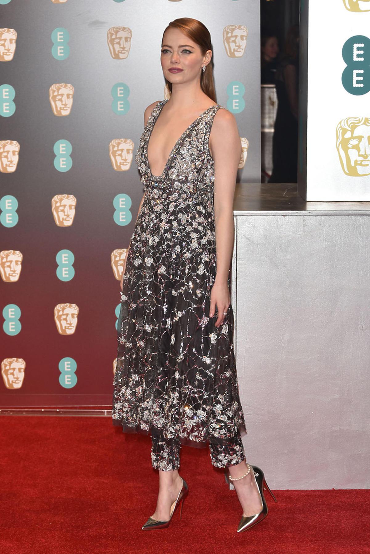 Emma Stone na gali wręczenia nagród BAFTA