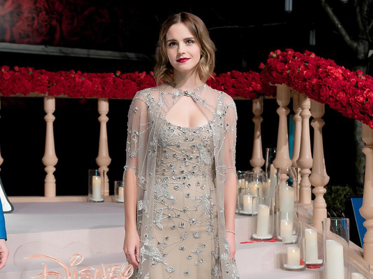 """Emma Watson na premierze """"Pięknej i Bestii''"""