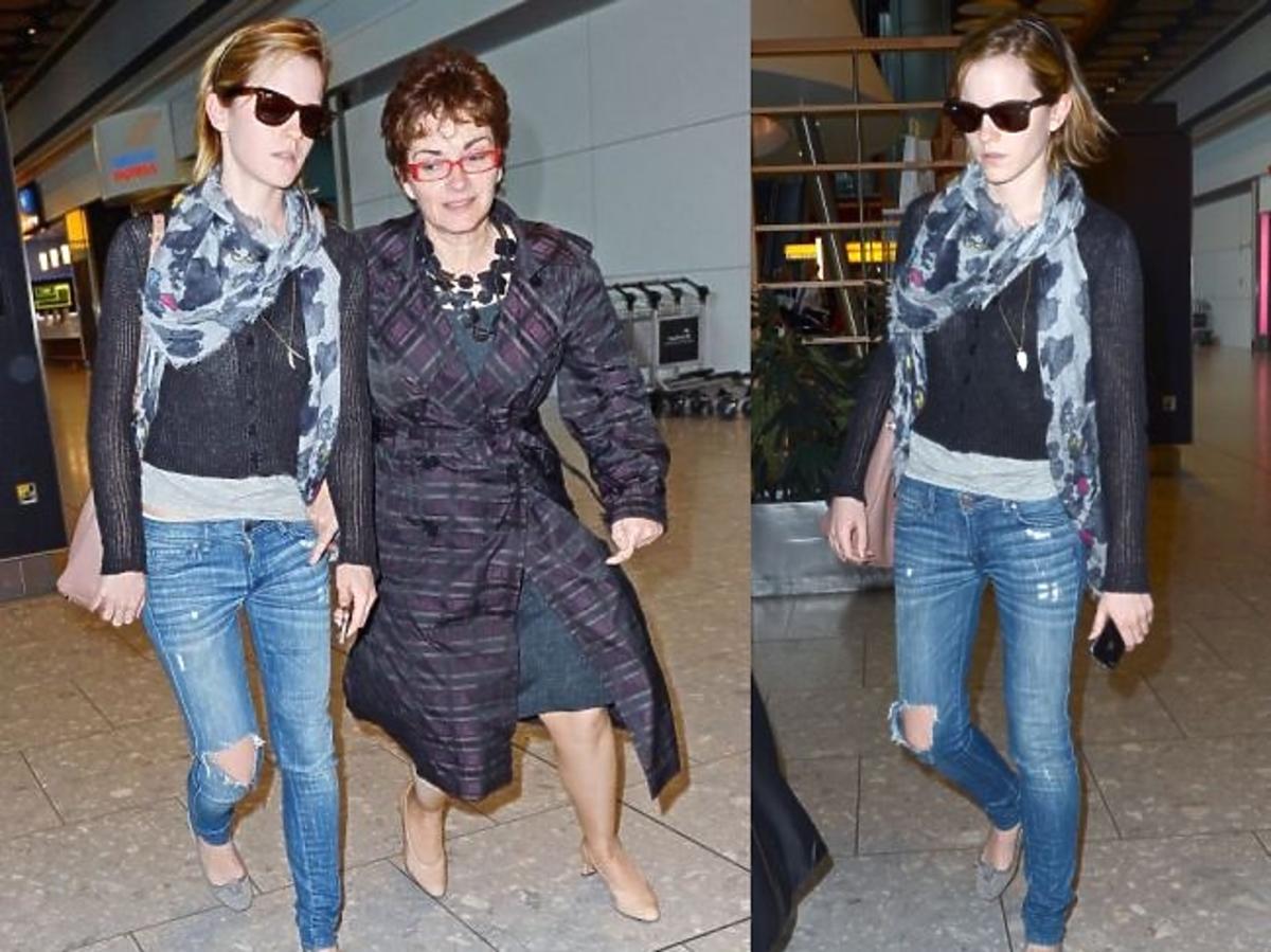 Emma Watson w podartych spodniach