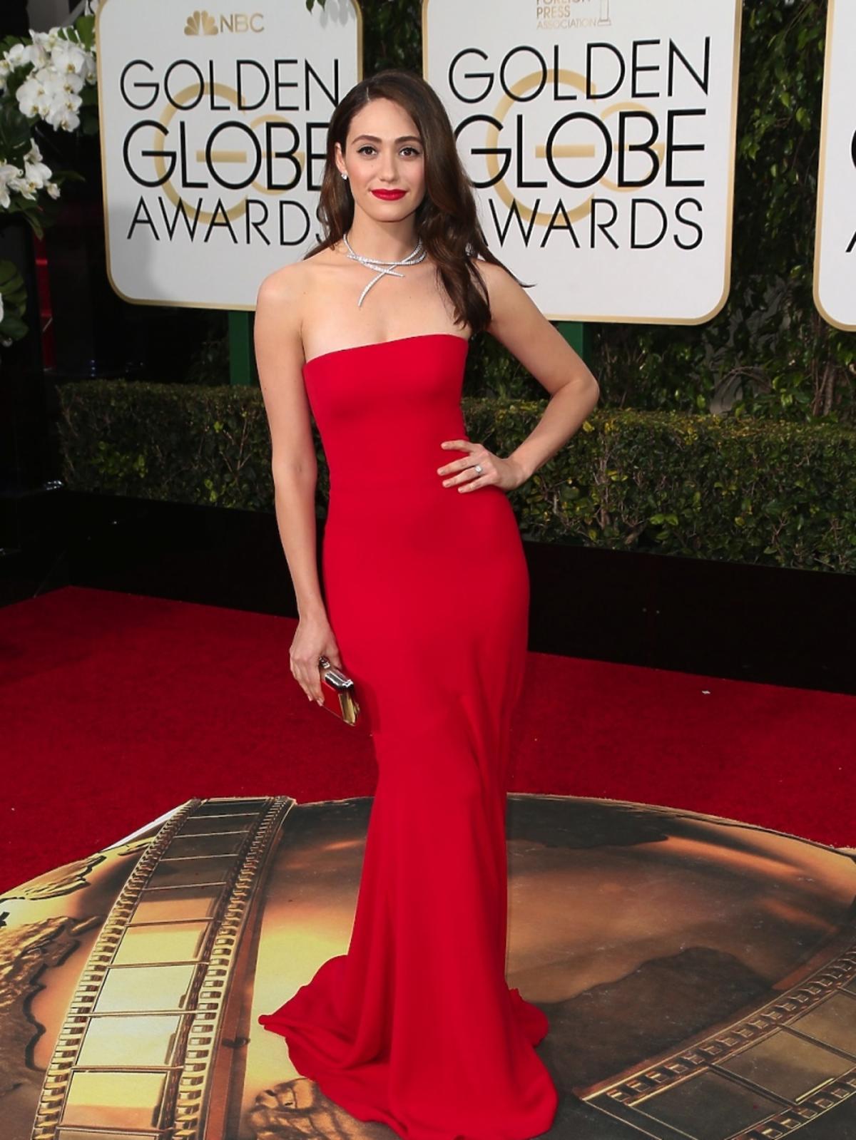 Emmy Rossum na gali Złote Globy 2016