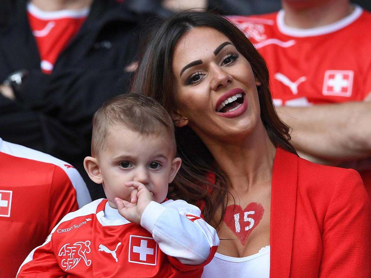 Erjona Sulejmani, żona Blerima Dzemaili, reprezentanta Szwajcarii na Euro 2016