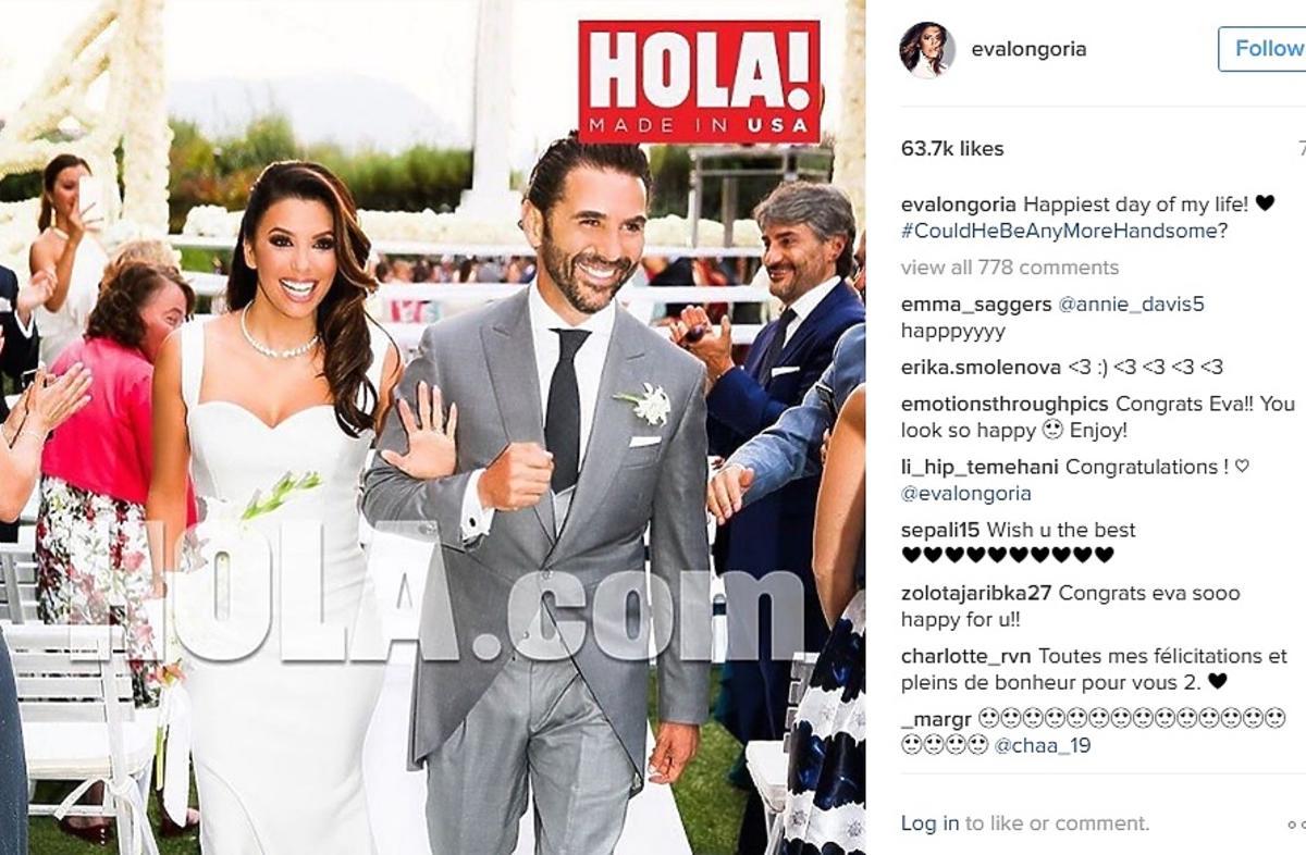 Eva Longoria pokazała zdjęcie ze ślubu