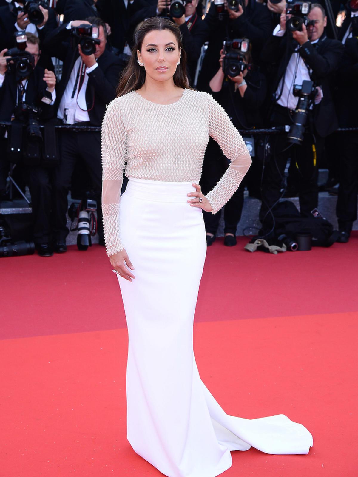 Eva Longoria w białej sukni