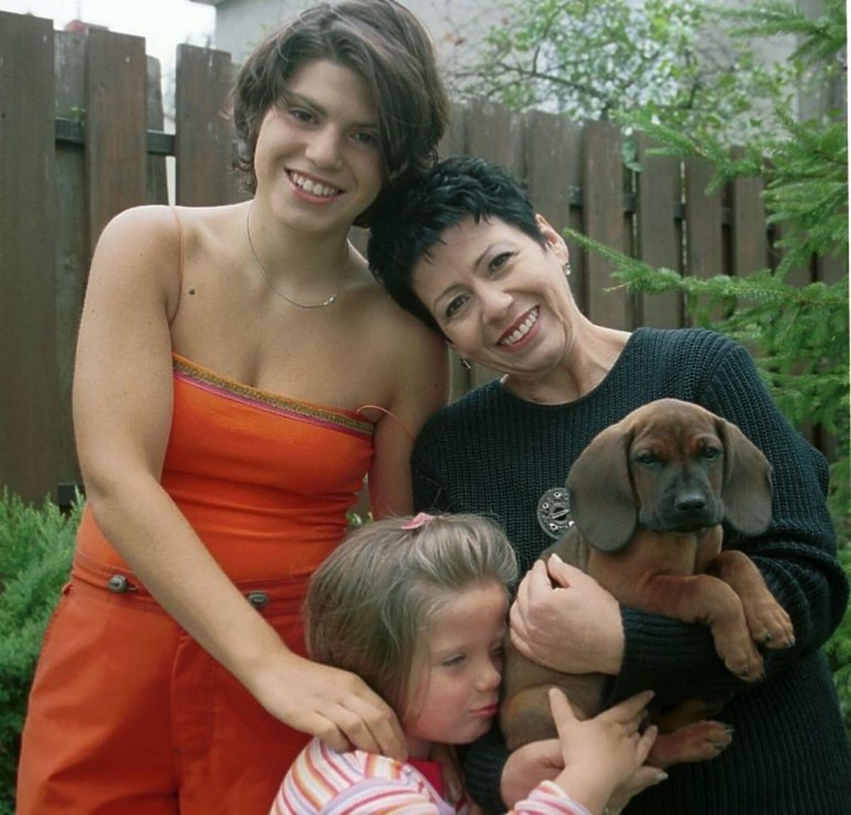 Ewa Bem z córkami, Pamela Bem-Niedziałek