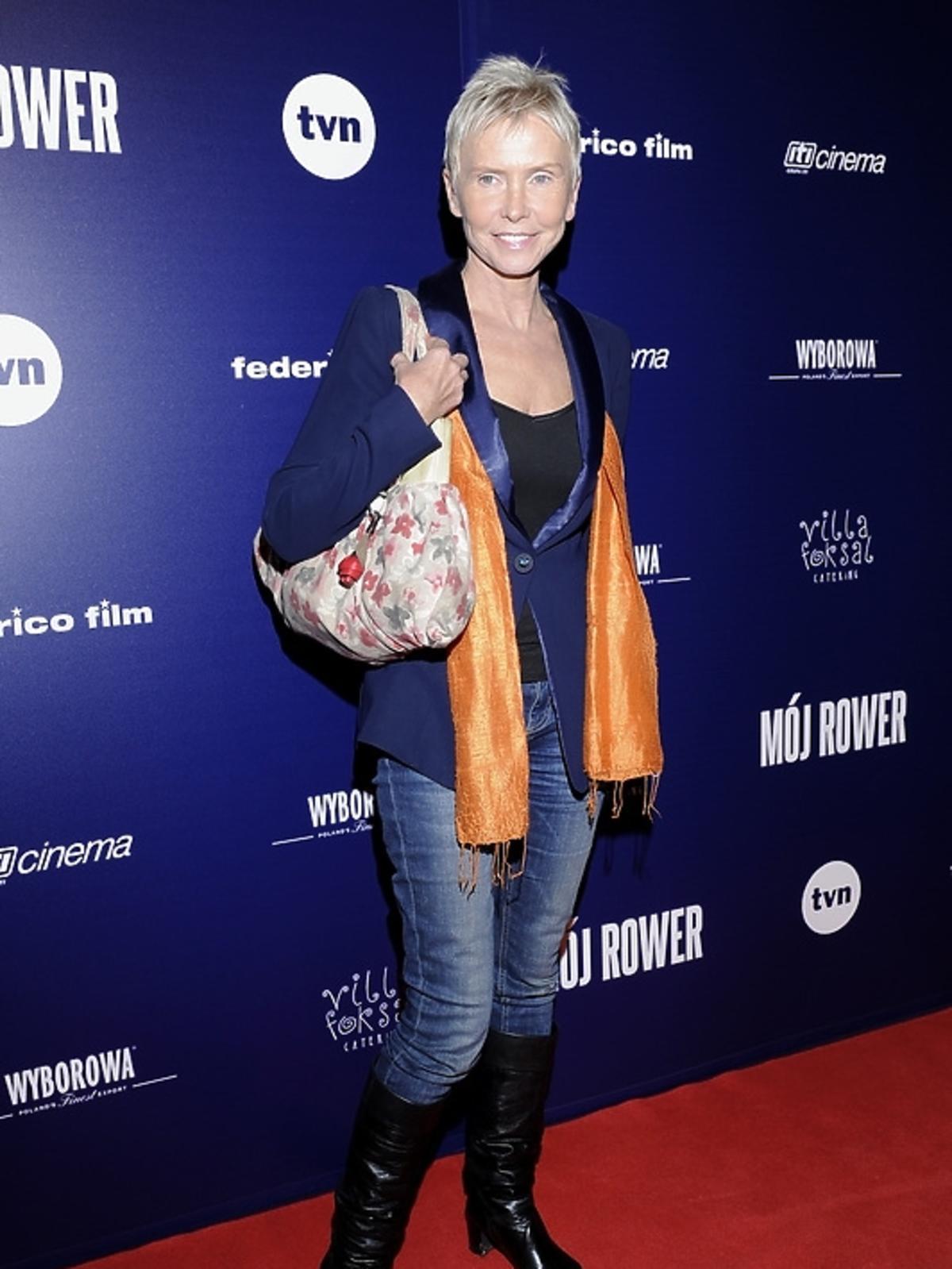 Ewa Błaszczyk na premierze filmu
