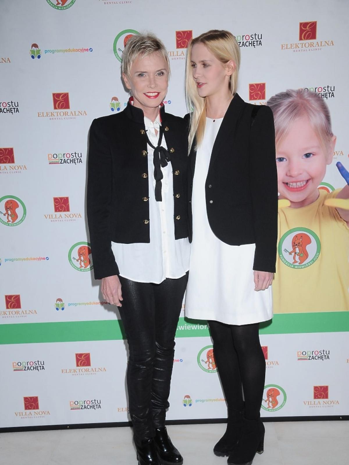 Ewa Błaszczyk z córką na urodzinach fundacji Wiewiórki Julii