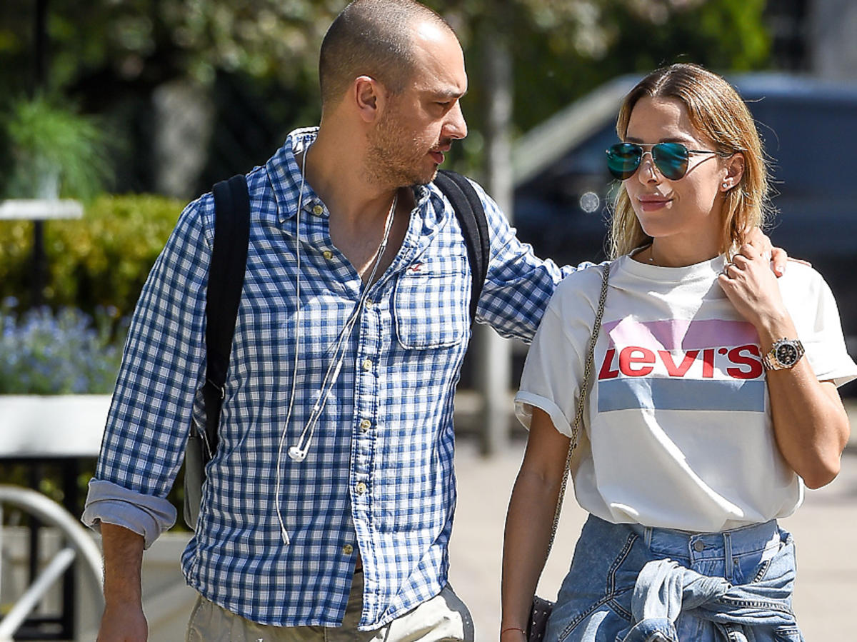 Ewa Chodakowska i jej mąż Lefteris Kavoukis wychodzą z restauracji