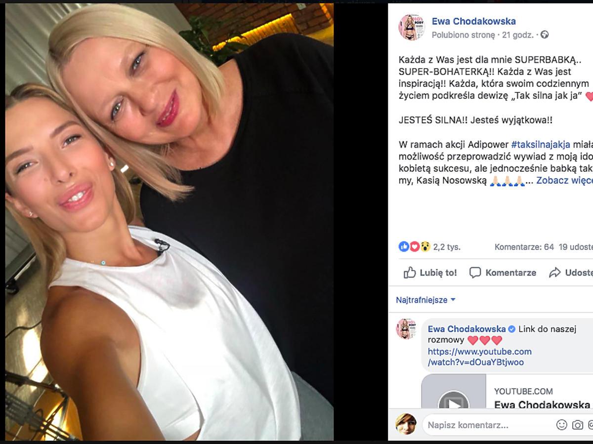Ewa Chodakowska i Katarzyna Nosowska na wspólnym selfie
