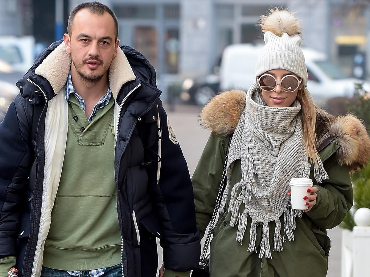 Ewa Chodakowska i Lefteris na spacerze w Warszawie