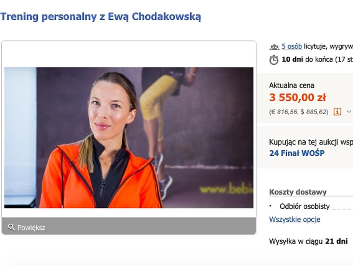 Ewa Chodakowska na Allegro wspiera WOŚP