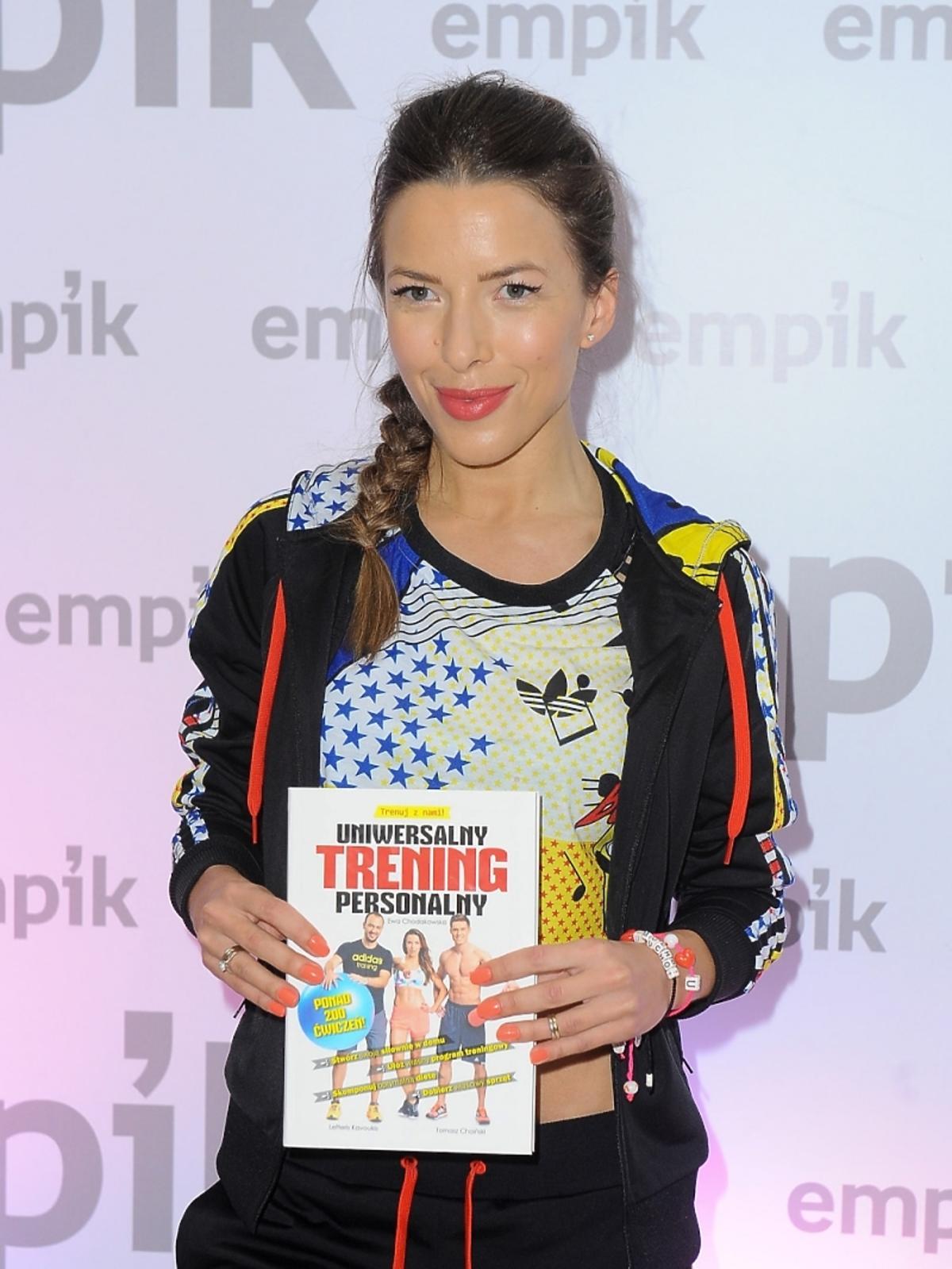 Ewa Chodakowska na premierze swojej książki