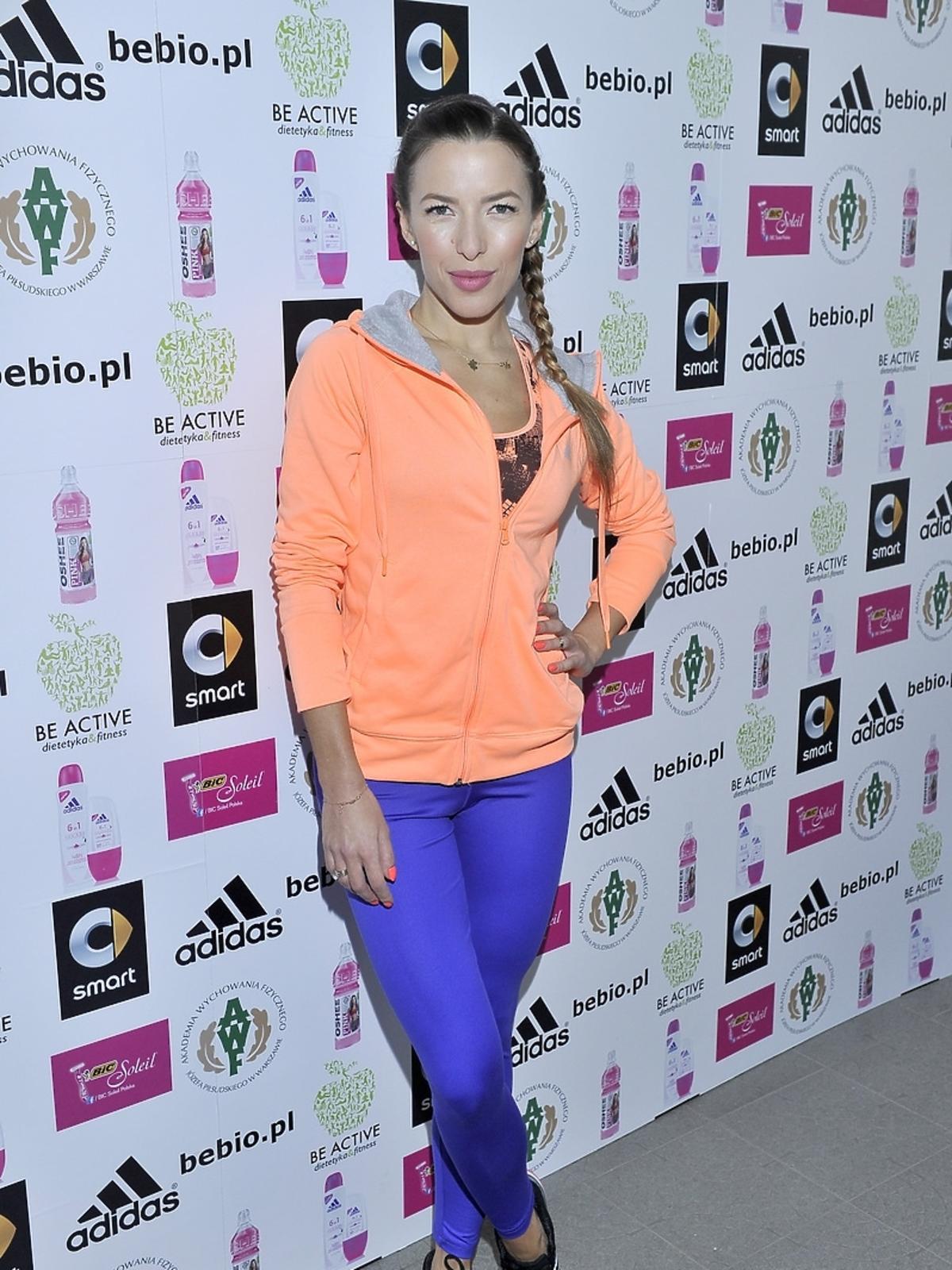 Ewa Chodakowska na treningu w Warszawie