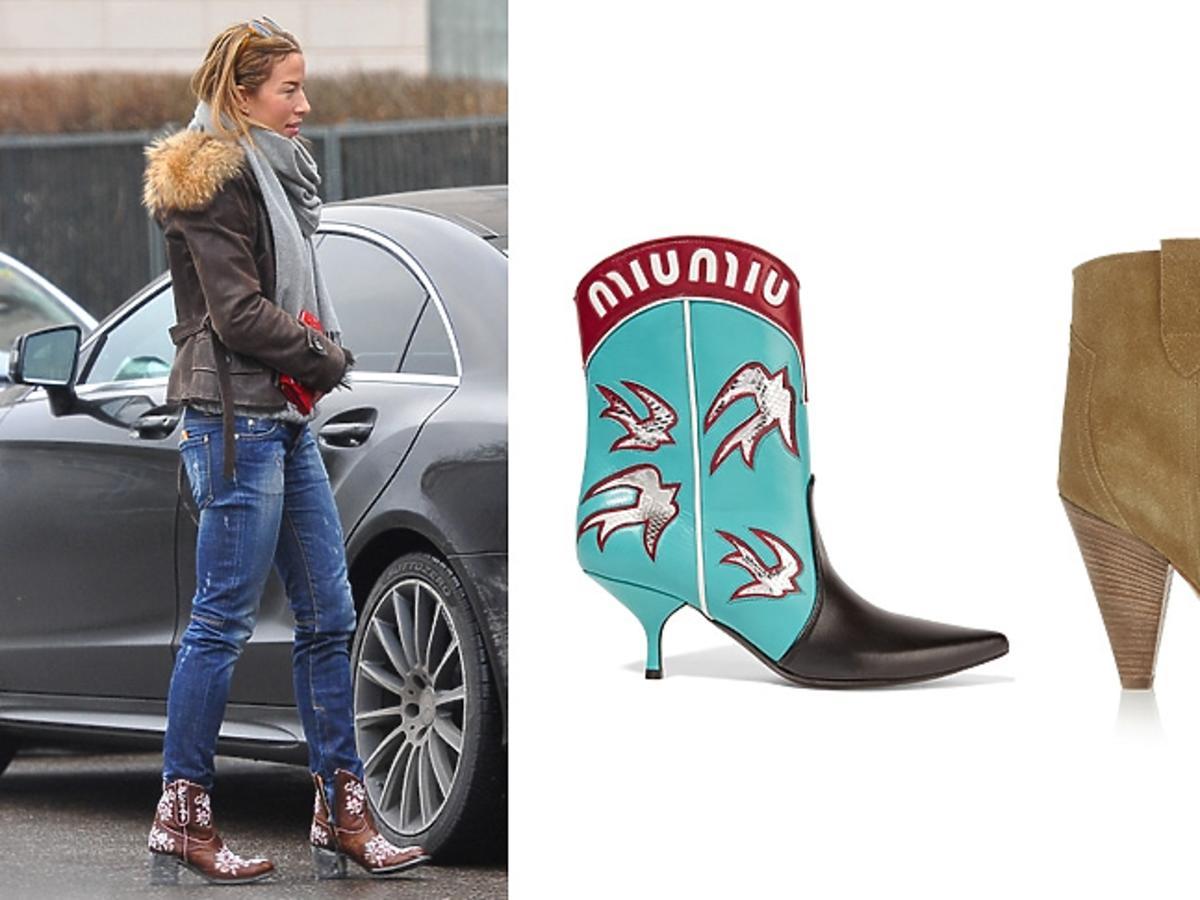 Ewa Chodakowska w butach kowbojkach