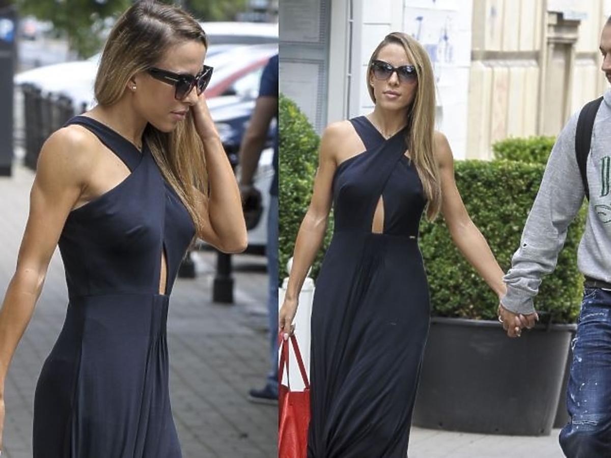 Ewa Chodakowska w czarnej sukience