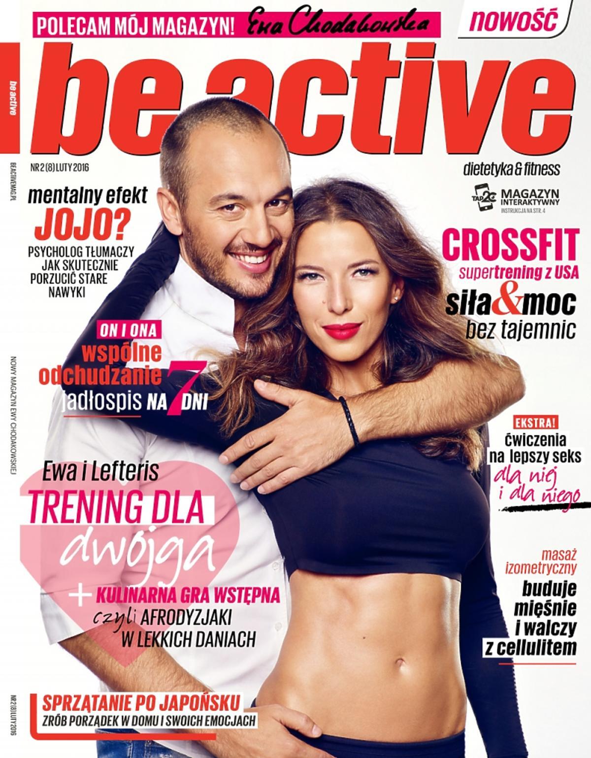 Ewa Chodakowska z mężem na okładce Be Active