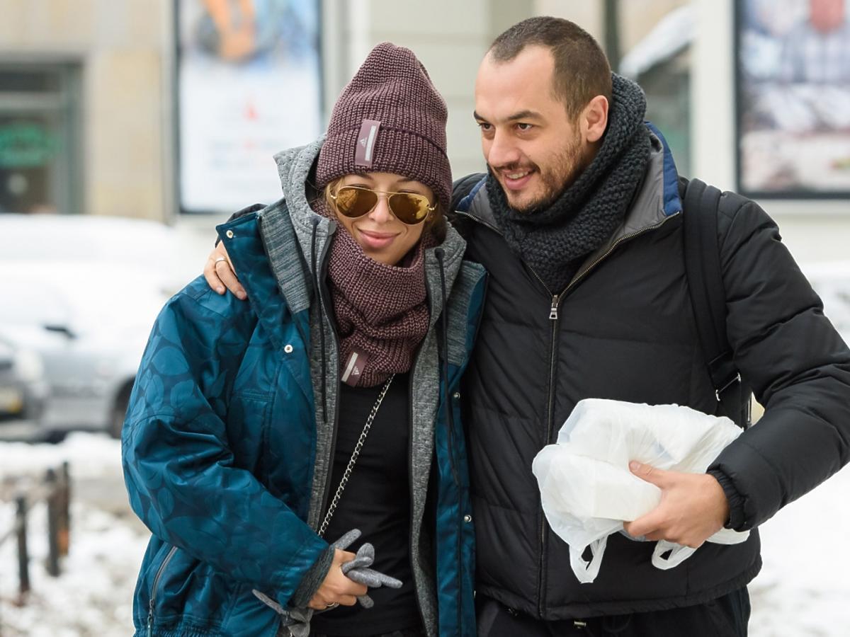 Ewa Chodakowska z mężem w zimowych stylizacjach