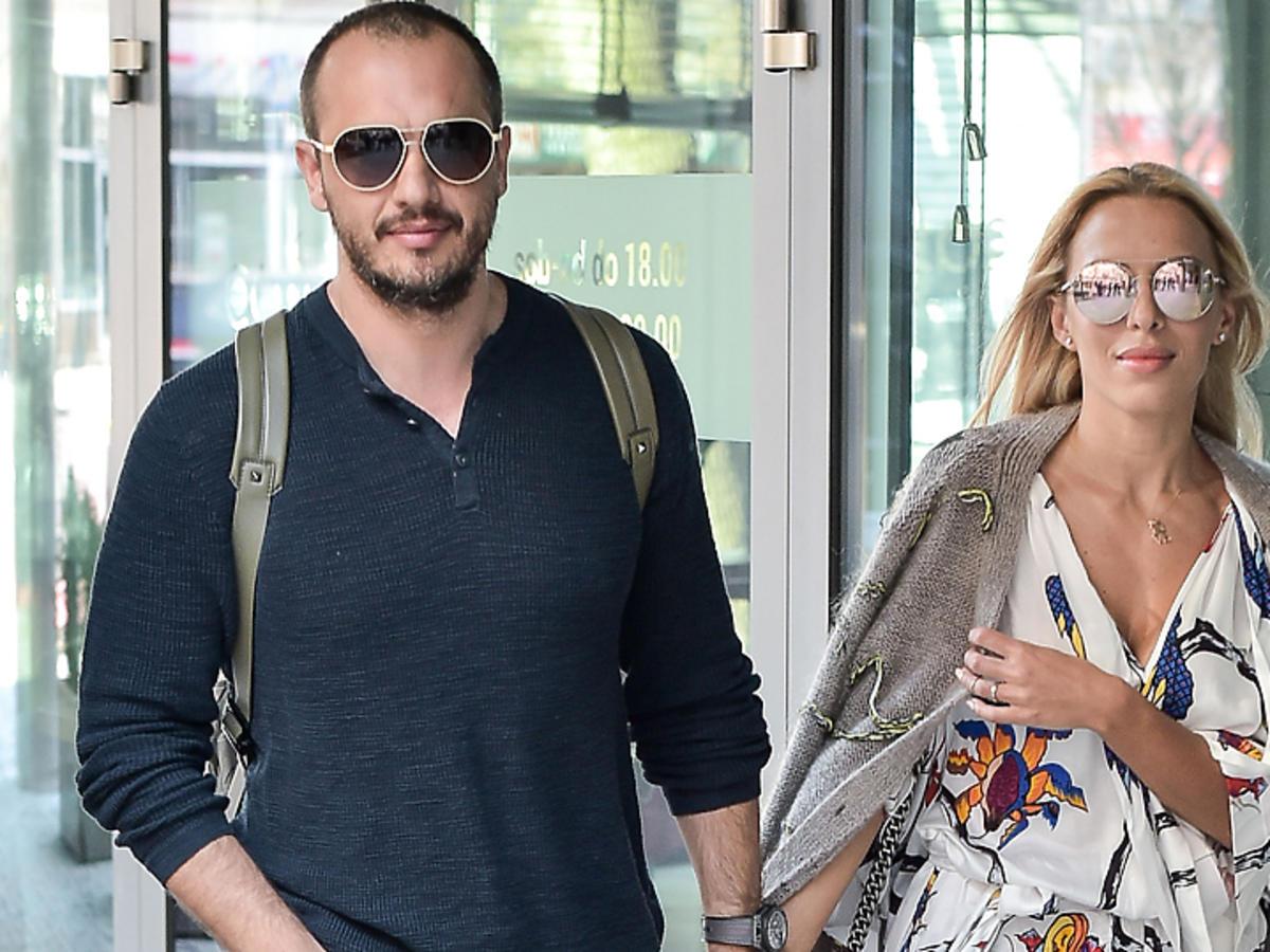 Ewa Chodakowska z mężem wychodzi z DDTVN