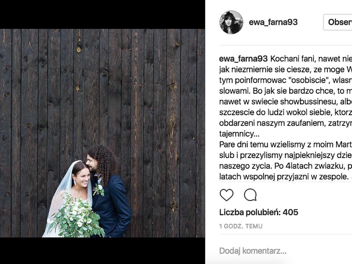 Ewa farna wzięła ślub z Martinem Chobotem!