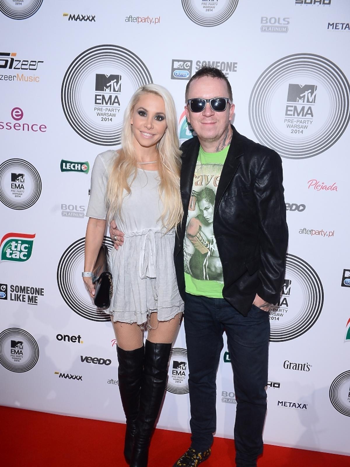 Ewa i Tomasz Lubert na MTV EMA Pre-Party 2014