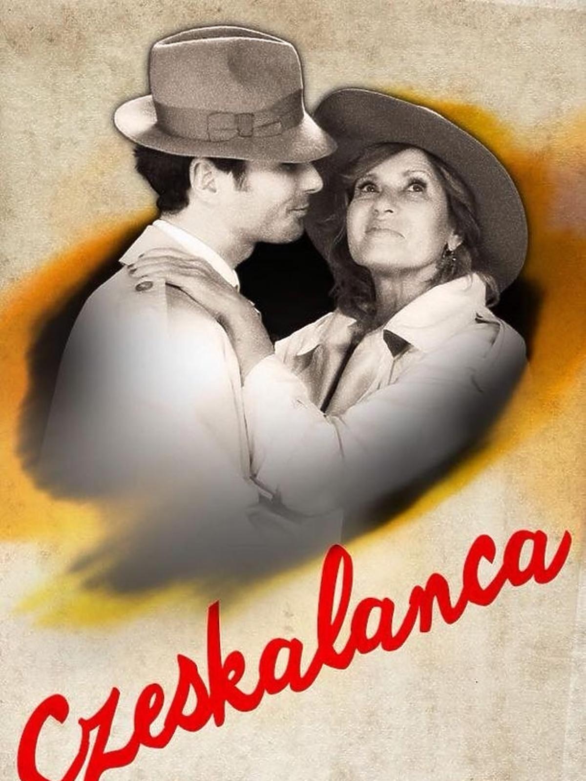 Ewa Kasprzyk i Jan Kliment  na plakacie filmowym