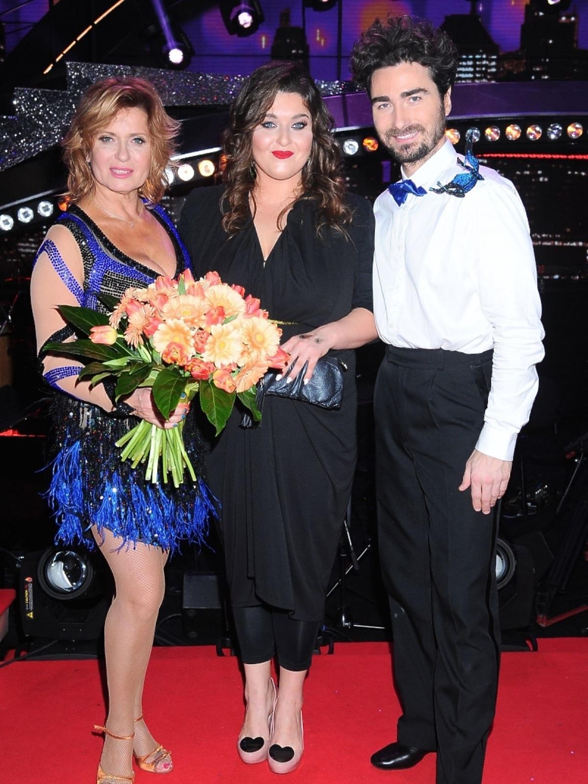 Ewa Kasprzyk, Jan Kliment i Małgorzata Bernatowicz w drugim odcinku Tańca z Gwiazdami