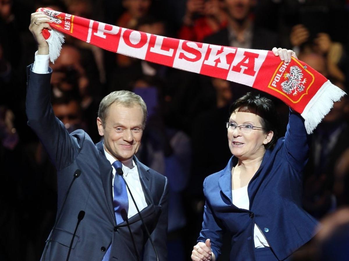 Ewa Kopacz, Donald Tusk razem na scenie