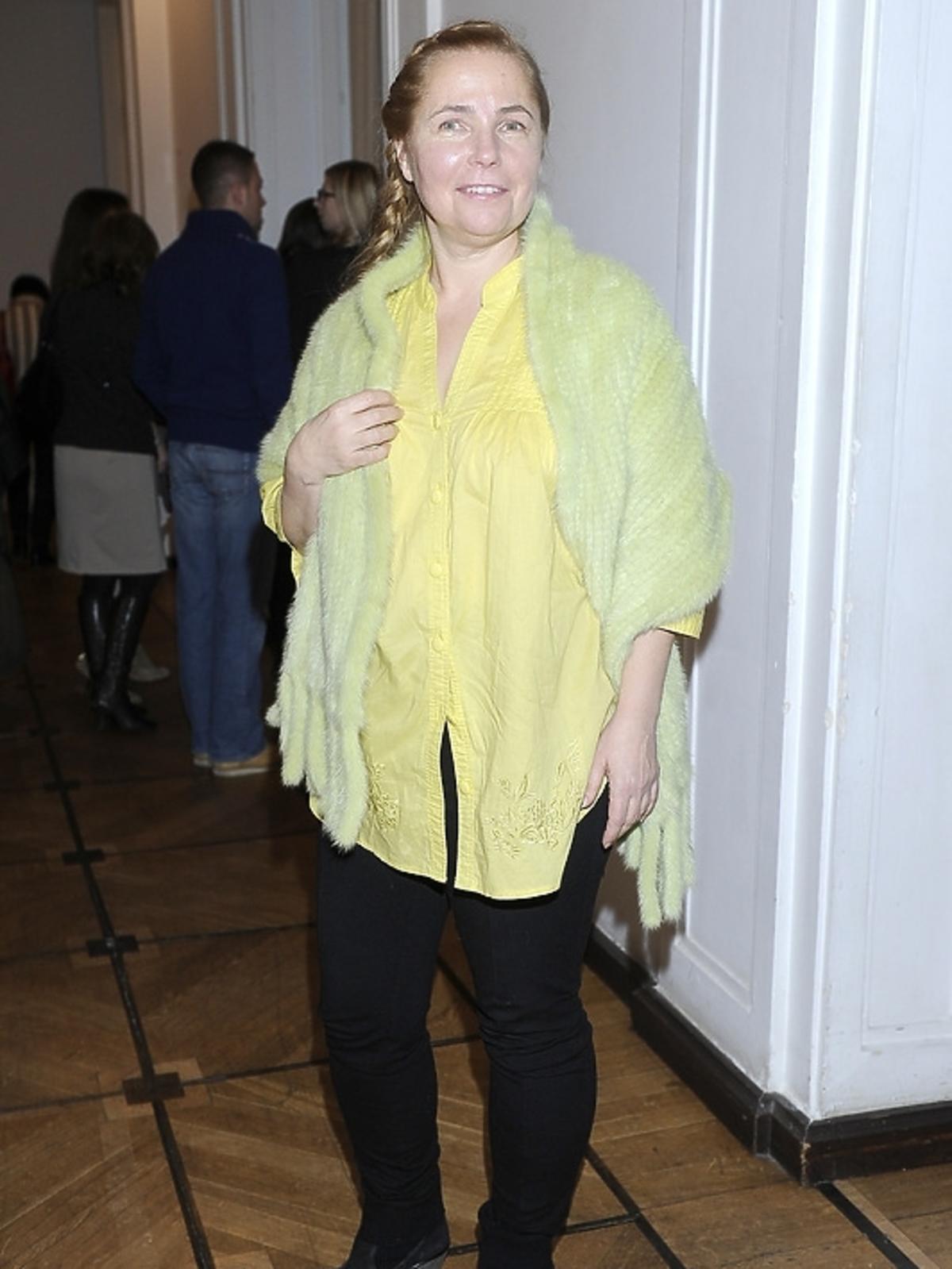Ewa Kuryło na premierze