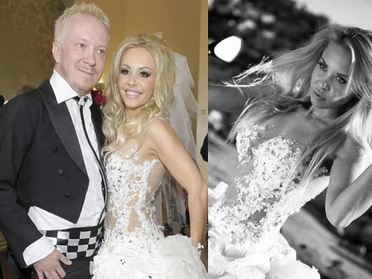 Ewa Lubert sprzedaje suknię ślubną na Allegro