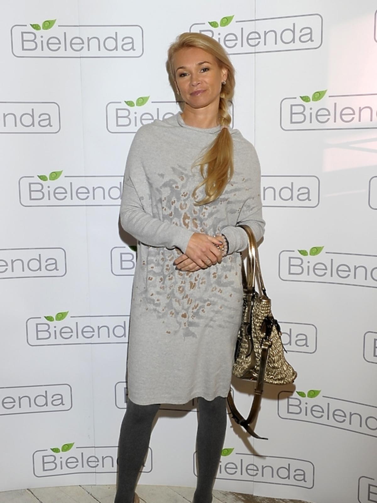 Ewa Pacuła na prezentacji kosmetyków marki Bielenda
