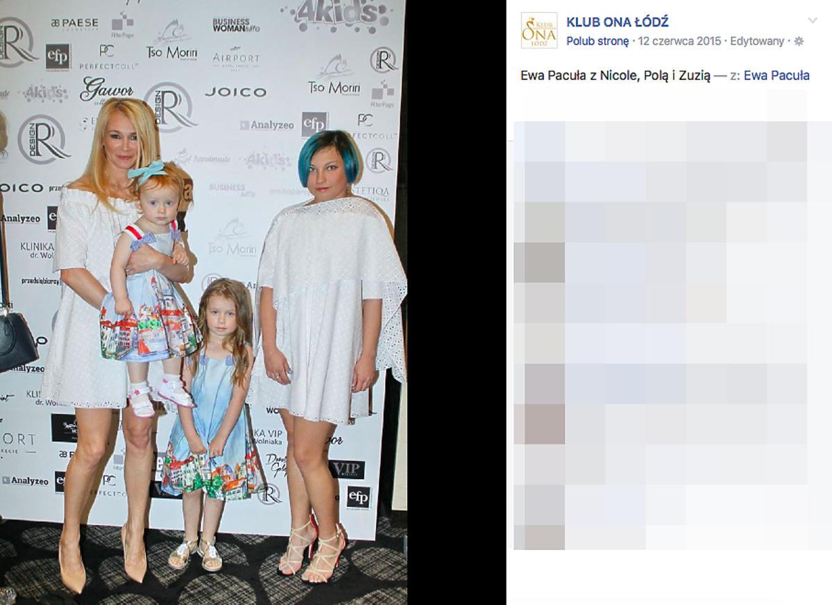 Ewa Pacuła z córkami
