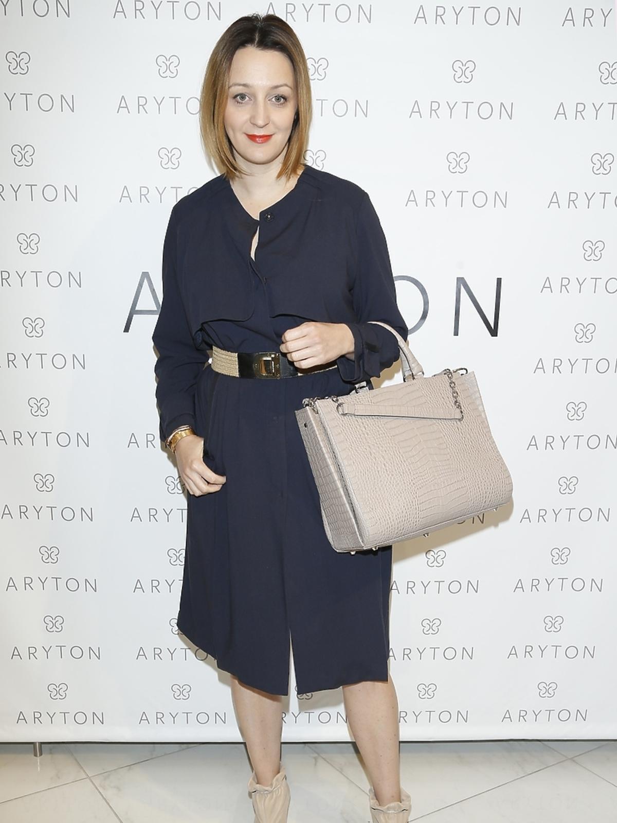 Ewa Wojciechowska na pokazie nowej kolekcji marki Aryton