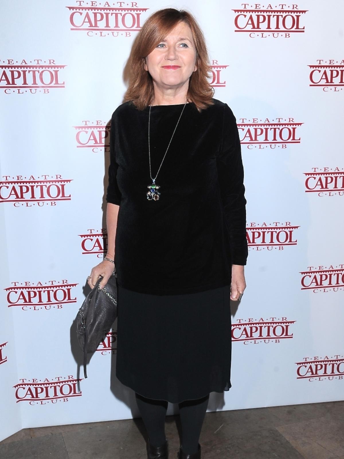 Ewa Zientek na premierze spektaklu