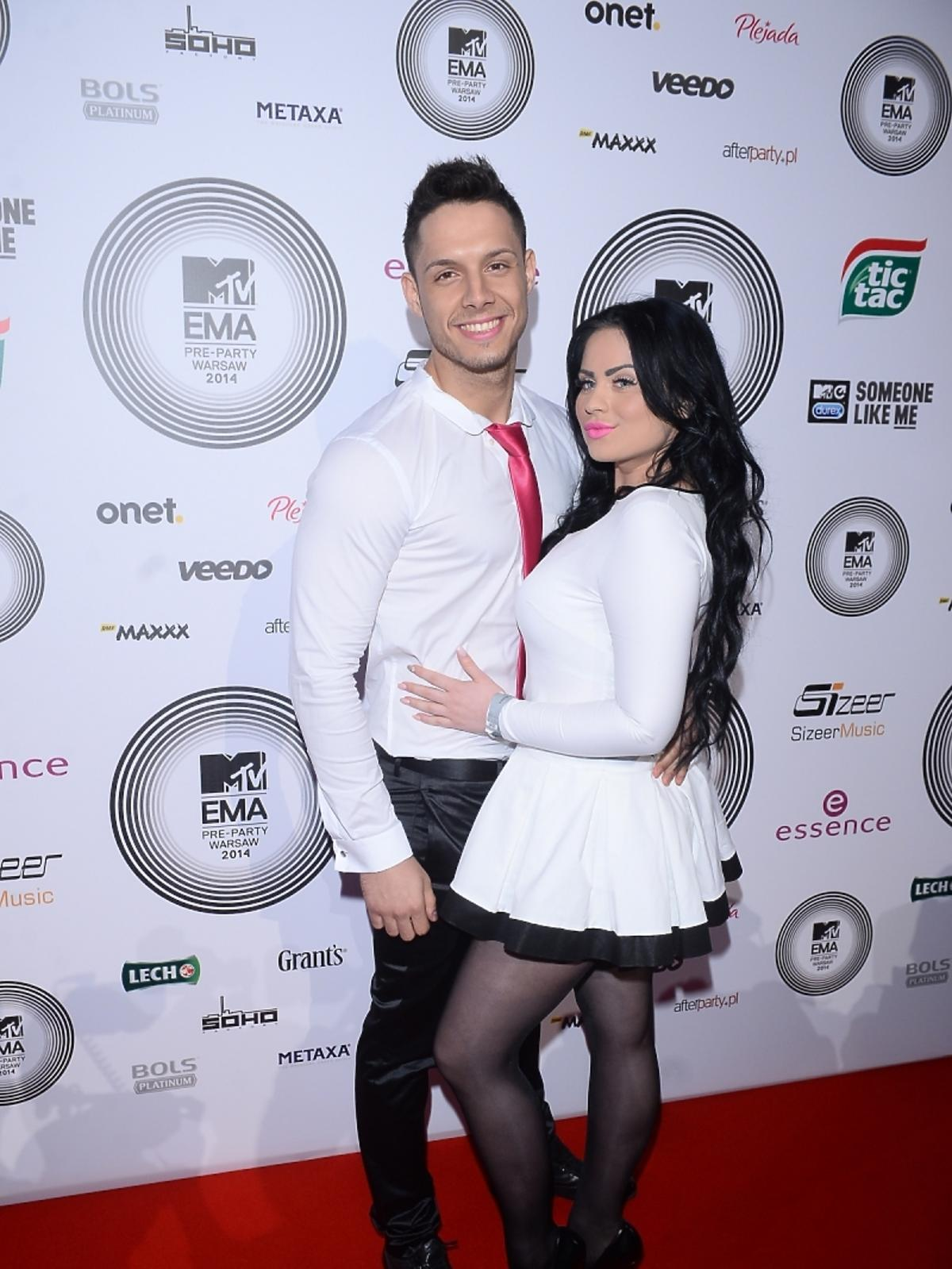Ewelina i Paweł z Warsaw Shore na MTV EMA Pre-Party 2014