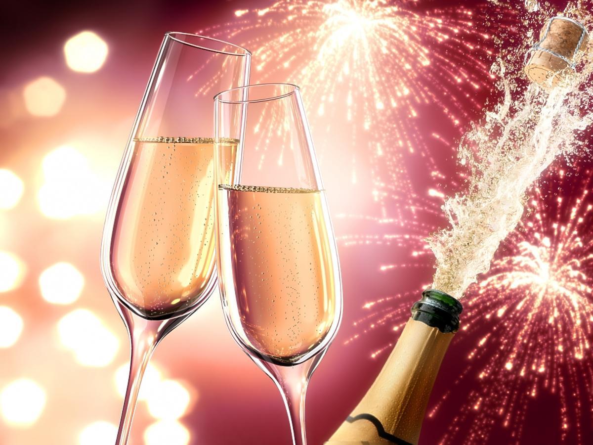 fajerwerki i szampan