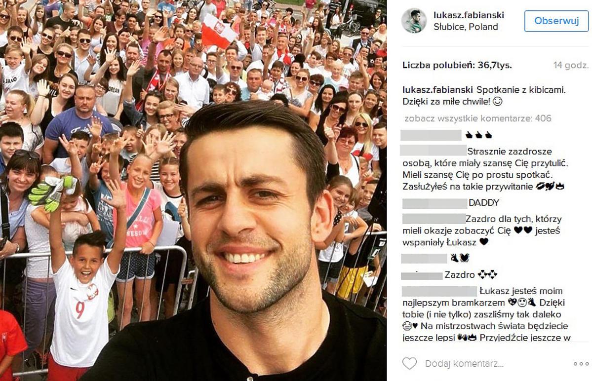 Fani przywitali Łukasza Fabiańskiego w rodzinnych Słubicach