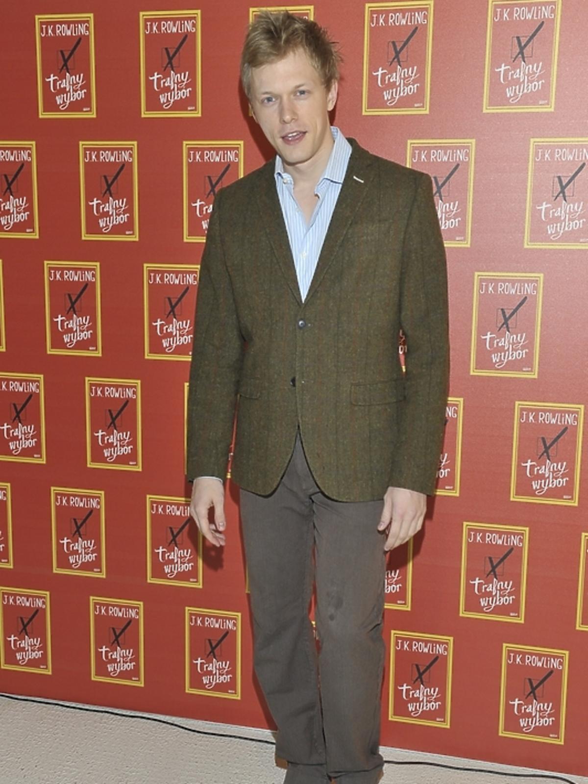 Filip Tłokiński na premierze książki J.K.Rowling