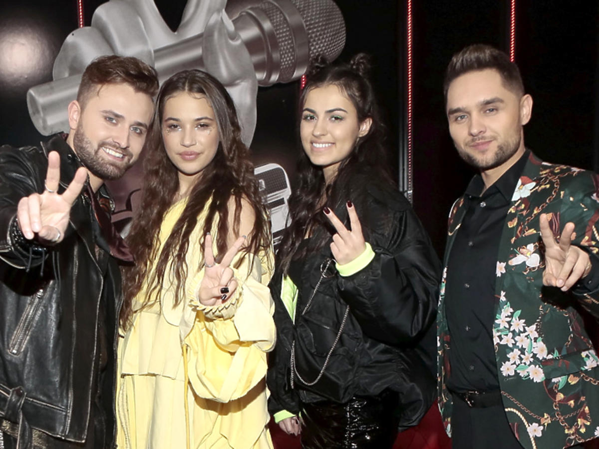 Finaliści The Voice of Poland 2019: Tadzik Seibert, Alicja Szemplińska, Daria Reczek i Damian Kulej