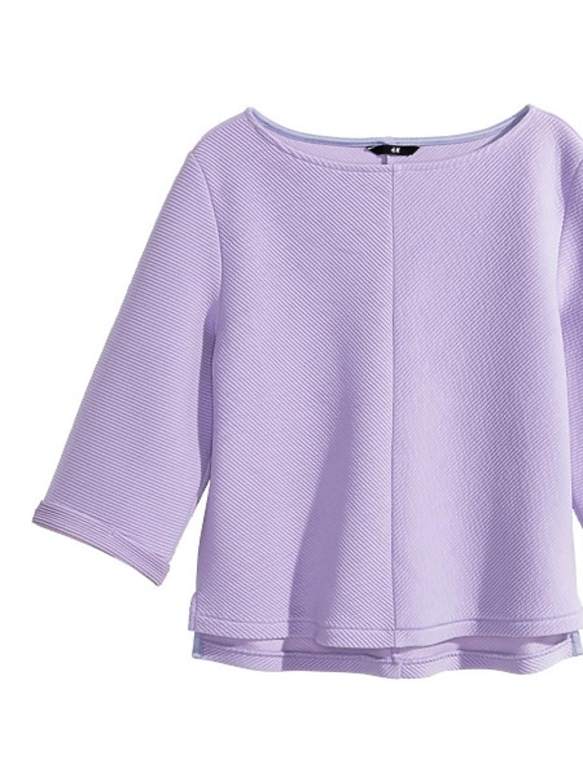 Fioletowa bluzka H&M, cena