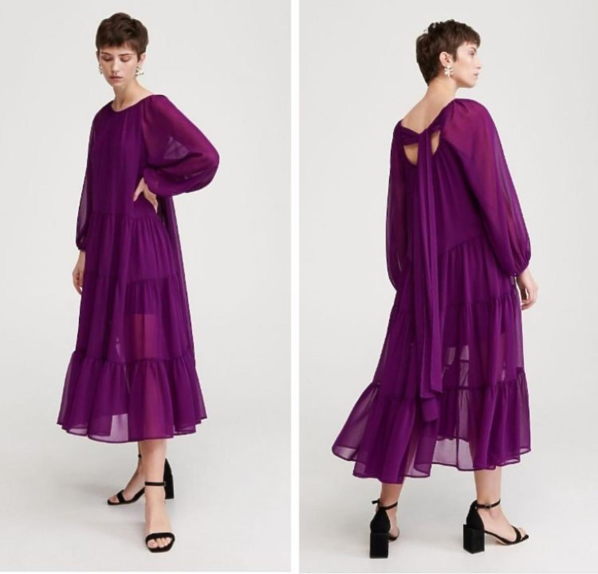 Fioletowa sukienka z Reserved