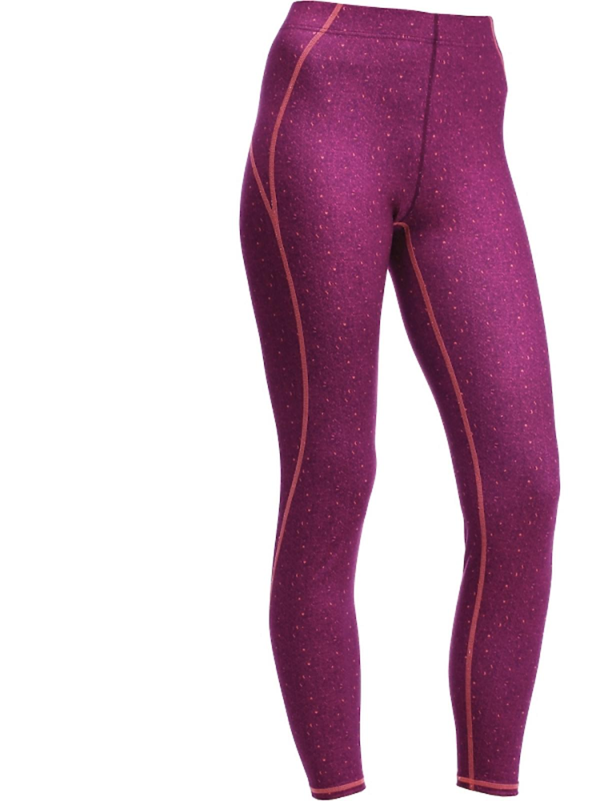 Fioletowe legginsy w kropki
