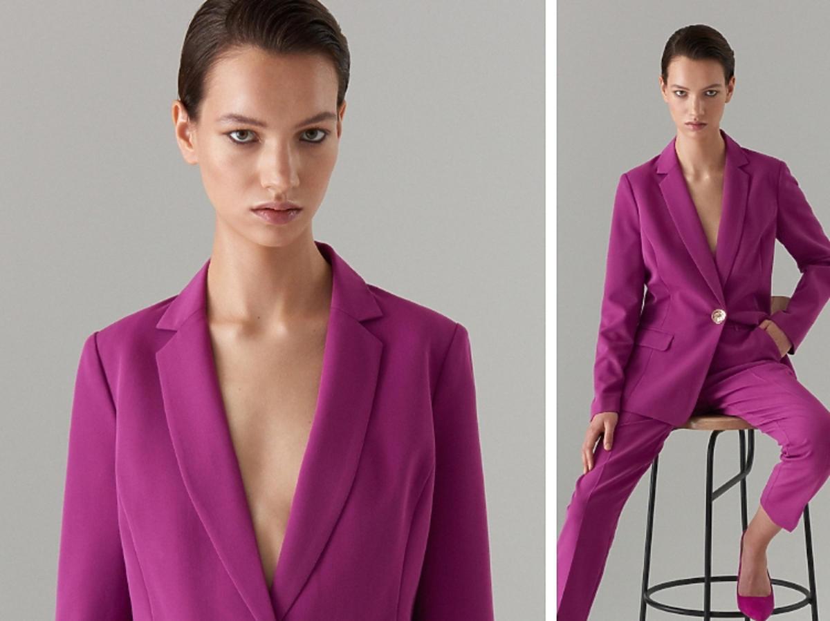 fioletowy garnitur z Mohito
