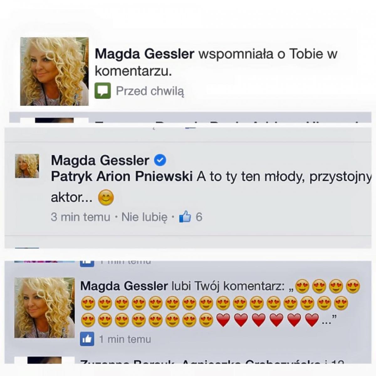 Flirt Magdy Gessler i Patryka Pniewskiego