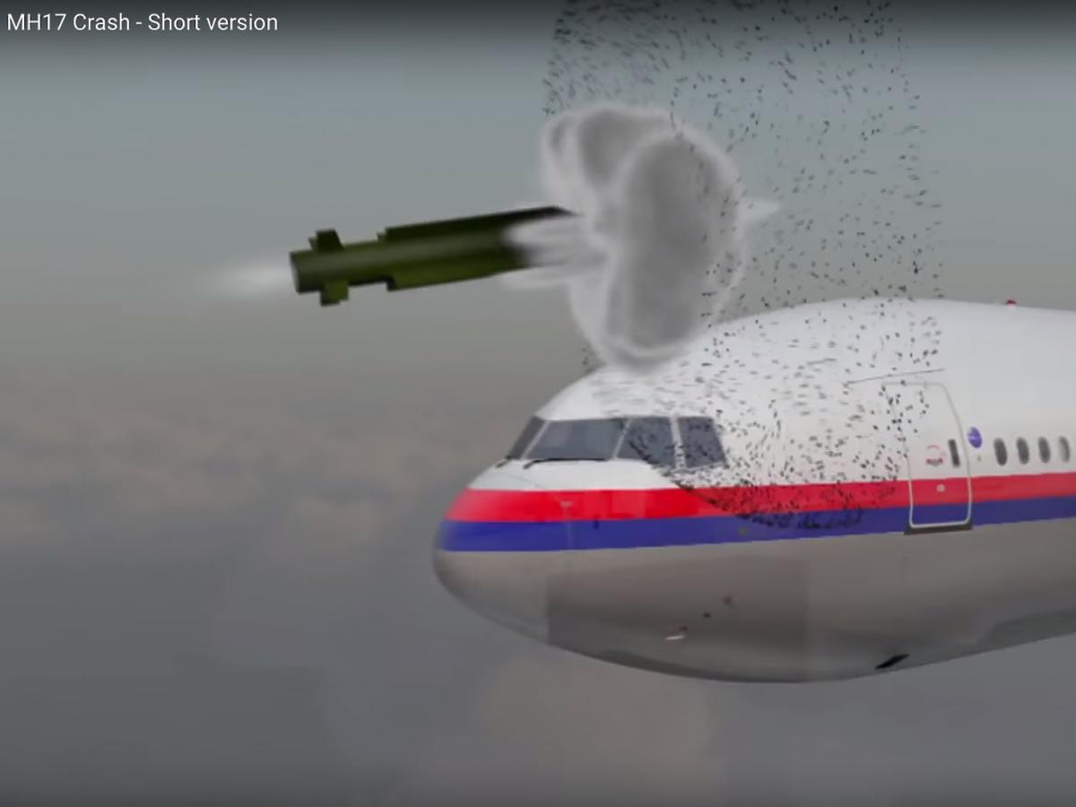 Fragment raportu komisji śledczej na temat zestrzelenia samolotu malezyjskich linii lotniczych