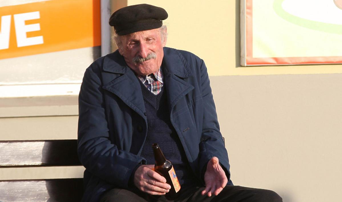 Franciszek Pieczka jako Stach Japycz w serialu